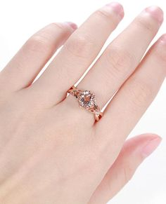 Morganite engagement ring rose gold engagement ring vintage Art deco Antique diamond wedding ring women Bridal set Jewelry Anniversary gift ❀ CUSTOM ORDER ❀ RUSH ORDER ❀ INSTALLMENT PLAN ❀ ENGRAVING ❀ 7 DAYS RETURN <><><><><><><><><><><><><><><> ≫≫ Item Details ❀❀❀ Made to Order, All