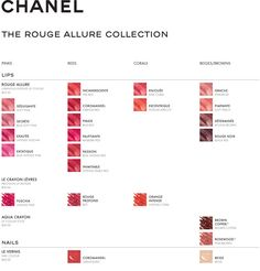 Chanel The Rouge Allure Collection Color Chart Orange Lipstick Boucle Jacket Best