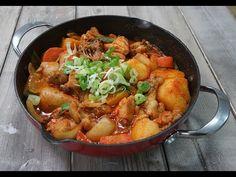 Korean Spicy Braised Chicken/Dakbokkeumtang (Feat. Fried Rice) | 닭볶ᄋ...