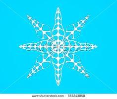 Geometric pattern snowflake 3D render