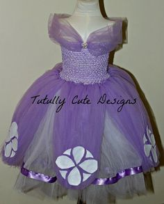 Sofia the First Dress.....Princess Tutu by TutullyCuteDesigns