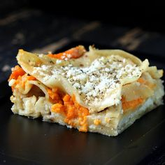 Sweet Potato Cauliflower Bechamel Lasagna {vegan}