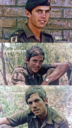 Three photos taken over a period of six months show the effect battle has on a young man Service Medals, School Of Engineering, Defence Force, We Are Young, Ol Days, Photo Essay, My Heritage, Vietnam War, Military History
