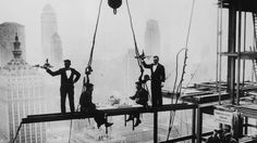 I guess you have to make your own fun at work, even when work is 20 stories off the ground on the skeleton of a future skyscraper. But these photos of construction workers enjoying their breaks and photo-ops high in the air are simply terrifying.