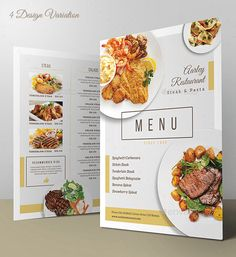 Discover recipes, home ideas, style inspiration and other ideas to try. Restaurant Design, Carta Restaurant, Cafe Menu Design, Logo Restaurant, Ppt Design, Food Menu Design, Graphic Design, Steak Pasta, Steak Salad
