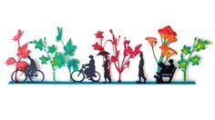 SALE Hand Painted Indoor Outdoor Sculpture by MetalArtGalleria, $2200.00 great for paper art design too Metal Wall Sculpture, Outdoor Sculpture, Wall Sculptures, Outdoor Wall Art, Indoor Outdoor, Paper Art Design, Large Metal Wall Art, 3d Wall Art, Bicycle Art