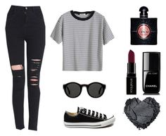 """Casual"" by bb123456789 ❤ liked on Polyvore featuring Converse, Mykita, Smashbox, Chanel, Yves Saint Laurent, women's clothing, women, female, woman and misses"