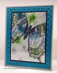 Stamping to Share: Swallowtail All Occasions Card with How To Video
