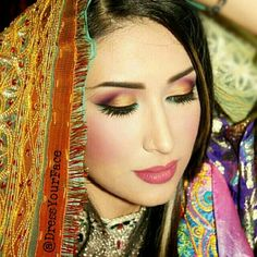 Afghan wedding makeup