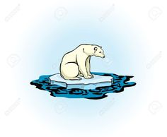 Polar Bear Sitting On A Melting Ice In A Midst Of Polluted Sea ...