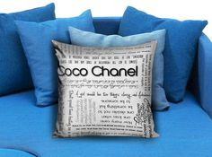 Coco Chanel Quotes Pillow Case Pillow Cover Printed 18x18 16x24 20x30 Modern Pillow Case Decorative Throw Pillow Case One Side Printing  These soft pillowcase made of 50% cotton, 50% polyester.  It would be perfect to decorate your home by using our super soft pillow cases on sofa, chair, bench or bed.  Customizable pillow case is both comfortable and durable, improving the quality of your sleep with these comfortable pillow case, take it home now!  Custom Zippered Pillow Cases available in…