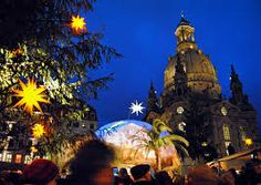 A view at the Dresden, Germany Christmas Market