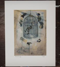 Birdcage Print | SJD Studio | Scoutmob Shoppe |  love the MAN/BIRD