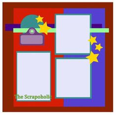 The Scrapoholic star scrapbook page