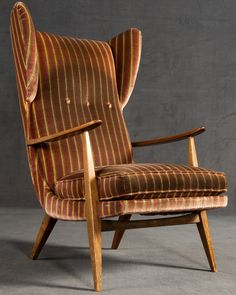 Anonymous; Wingback Armchair by Knoll Antimott, c1950.
