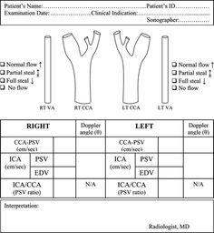 Carotid Doppler template