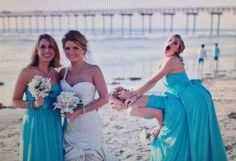 Wedding Bride and Bridesmaids Just Want To Have Fun ---- funny pictures hilarious jokes meme humor walmart fails