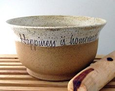 Bare Bottom Bowl  Happiness is Homemade  Hand Made by JustMare