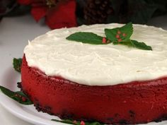 A heavenly, decadent and rich cheesecake recipe, Red Velvet Cheesecake is festive and delicious. Red Velvet fans will like this one! Photograph included.