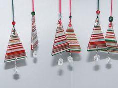 Christmas Ornament - Fused Glass Dichroic Tree