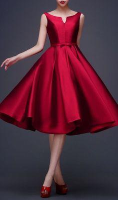 88 Elegant Red Dress Ideas Make You Look Sexy Vestidos Vintage, Vintage Dresses, Vintage Shoes, Short Dresses, Prom Dresses, Formal Dresses, Dress Prom, Bridesmaid Dress, Dresses Dresses