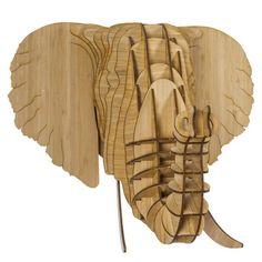 Eyan the Bamboo Elephant Head