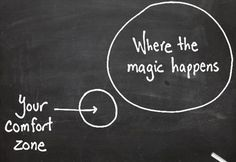 move outside your comfort zone
