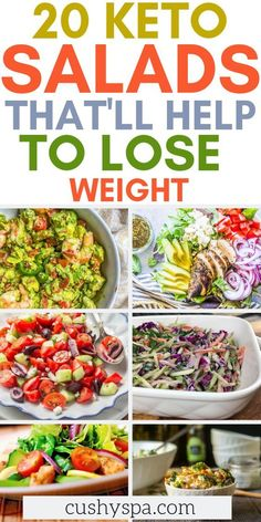 Lose weight while eating a nutritious diet. These low carb salads are great keto side dishes and you can enjoy them with a healthy lunch or ketogenic dinner. #keto #ketodiet #ketogenicdiet