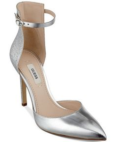 GUESS Women's Abaih Two-Piece Pumps - Pumps - Shoes - Macy's