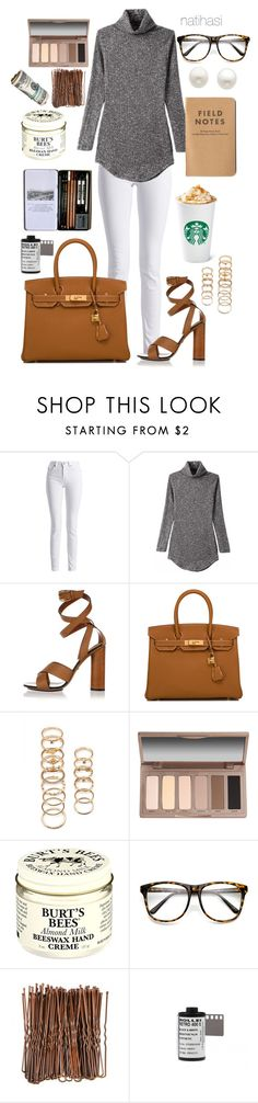"""""""Lace up Fall Outfit"""" by natihasi on Polyvore featuring Mode, Barbour International, Gucci, Hermès, Forever 21, Urban Decay, Burt's Bees, Retrò und Reeds Jewelers"""