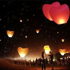 Love Heart Flying Wishing Lantern- 5pcs  | Wrinkled Wedding Dress | DIY Wedding Shop | Budget Bride Blog | Bohemian Bride | Country Bride | DIY Party | Cheap Wedding Ideas | Wedding Advice and Tips | Wedding Trends | Bachelorette |