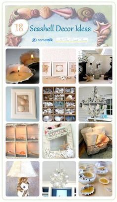 Seashell Projects Roundup from Hometalk and At The Picket Fence - some cute ideas! +++++++++++++++++ AtThePicketFence.com #seashell #decorating #beach