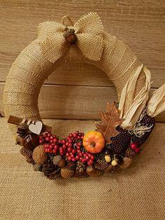 Türkranz* Naturdeko* Rustic* Trendy*Herbstdeko* Winterdeko Advent Wreath, Diy Wreath, Burlap Wreath, Autumn Wreaths, Holiday Wreaths, Dried Flower Wreaths, Fall Diy, Christmas Deco, Fall Halloween