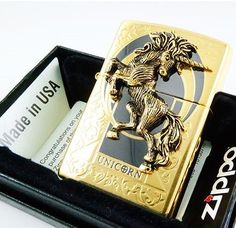 Unicon Gold Zippo Lighter Free Gift Set
