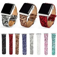 679b3eb78cc Leather   Glitter iWatch Bands. Apple Watch ...