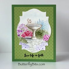 Butterfly Quotes, Art Impressions Stamps, Watercolor Cards, Live Life, Wordpress Theme, Paper Crafts, My Favorite Things, My Love, Frame