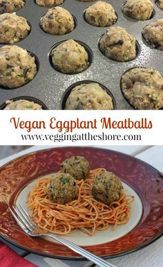 Vegan eggplant meatballs. Next time you are craving comfort food and want to keep it healthy, try these....