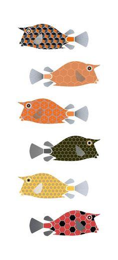 Scott Partridge - custom art for The Cowfish restaurant - cowfish koi