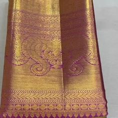 New Saree Designs, Wedding Saree Blouse Designs, Silk Saree Blouse Designs, Wedding Sarees, Bridal Sarees South Indian, Bridal Silk Saree, Indian Sarees, Silk Saree Kanchipuram, Kanjivaram Sarees