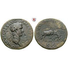 Römische Kaiserzeit, Nerva, Sesterz 97, f.ss: Nerva 96-98. Messing-Sesterz 35 mm 97 Rom. Kopf r. mit Lorbeerkranz IMP NERVA CAES AVG… #coins