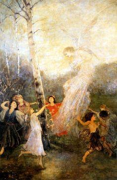 '' Joy ''by Nikolaos Gyzis (Greek [Munich School] Brush Effect, Greece Painting, Art Nouveau, Social Art, Pre Raphaelite, 10 Picture, Greek Art, Chiaroscuro, Fantastic Art