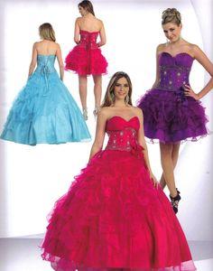 modelos de vestidos 2 em 1 para debutantes