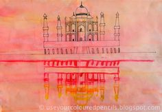 I really love these drawings of India's magnificent Taj Mahal by my grade 4 and 5 students.   Students used photographs of the Taj Mahal a...