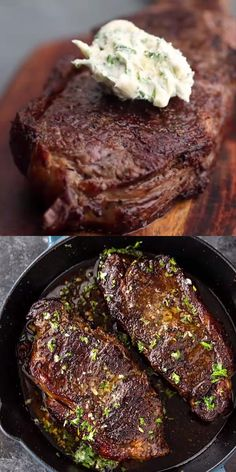 Pan-Seared Steak with Garlic Butter