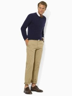 the perfect navy cashmere crew.