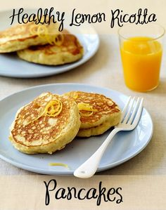 Healthy Lemon Ricotta Pancakes perfect for brunch or breakfast!