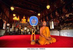 Thailand, Phra Nakhon Si Ayutthaya Province, Ayutthaya (former capital of Siam), Wat Suwandararam temple, higher - Stock Image