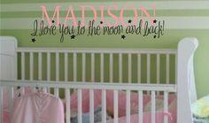Baby Girl of Boy Nursery Bedroom Custom by JustTheFrosting on Etsy, $18.00
