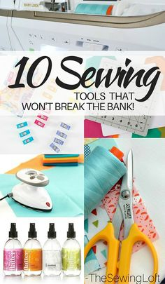 Some tools just work harder and help you speed through each project. Check out some of these must have sewing tools. The Sewing Loft Sewing Tools, Sewing Notions, Sewing Hacks, Sewing Tutorials, Sewing Crafts, Sewing Lessons, Sewing Ideas, Sewing Accessories, Love Sewing