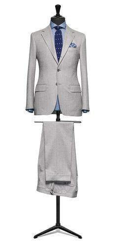 Grey suit Plain flannel S120 http://www.tailormadelondon.com/shop/tailored-suit-fabric-4307-plain-grey/